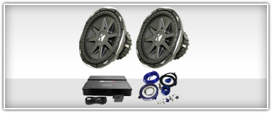 Dual 12 Inch Car Audio Package