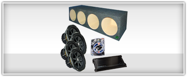 Quad 12 Inch Car Audio Package