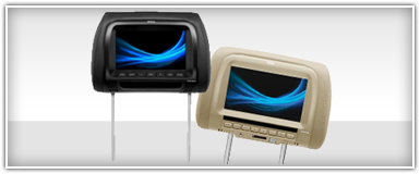 Mobile Custom Fit Headrest Monitors